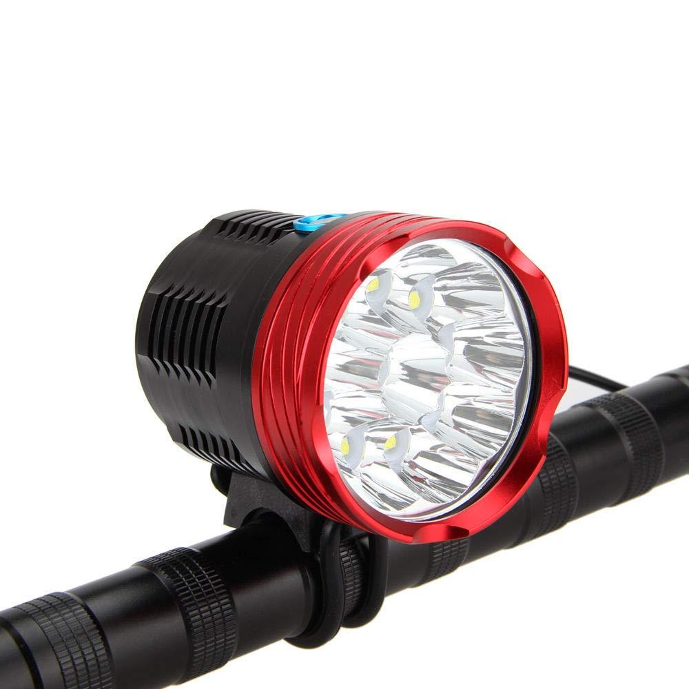 自転車ライトセット、夜間の自転車のヘッドライト安全なサイクリングスーパーブライト LED ライト電池は、クイックリリースが含まれて B07GB97XXS