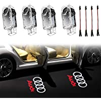 KRADA Car Door LED Lighting Entry Ghost Shadow Projector Welcome Lamp Logo Light for AUDI Series Symbol Emblem Courtesy Step Lights Kit Replacement(4 pack)