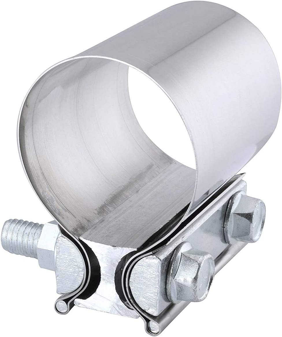 """2pcs 2.75/"""" 2 3//4/"""" Stainless Butt Joint Band Exhaust Clamps T304"""