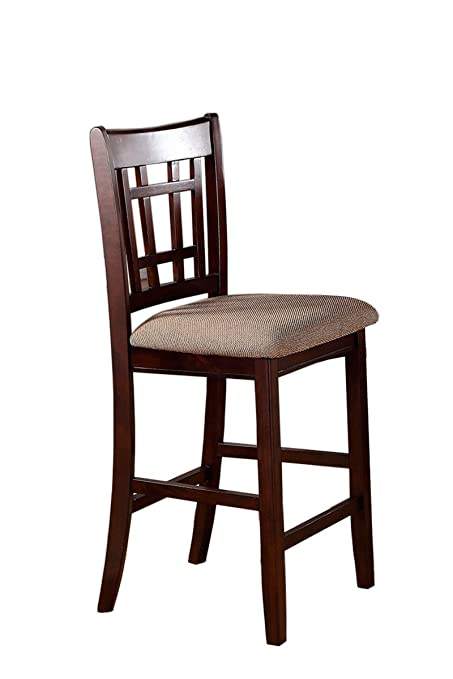 Amazon.com - Poundex PDEX-F1205 Pub High Chairs, Rosy Brown - Chairs