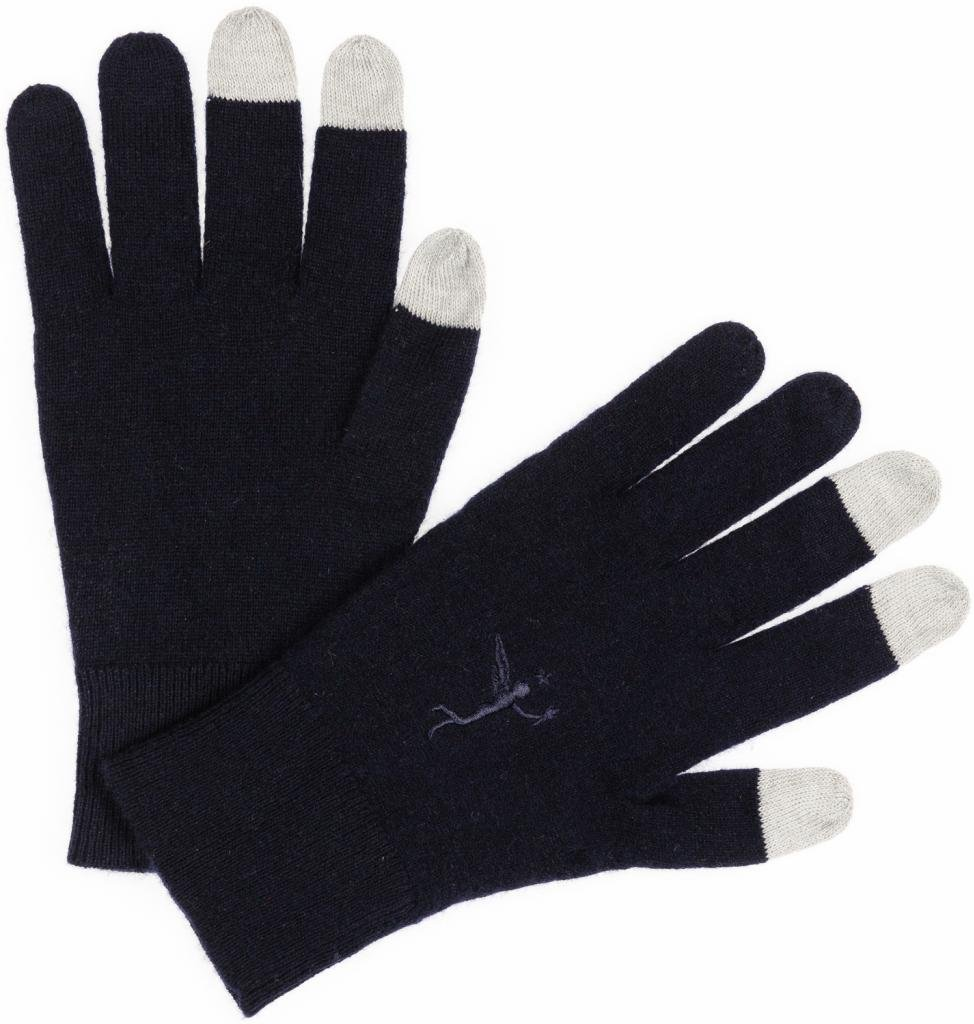 Cashmere Gloves, Women's - Texting & Touch Screen - by Citizen Cashmere (Navy Blue)