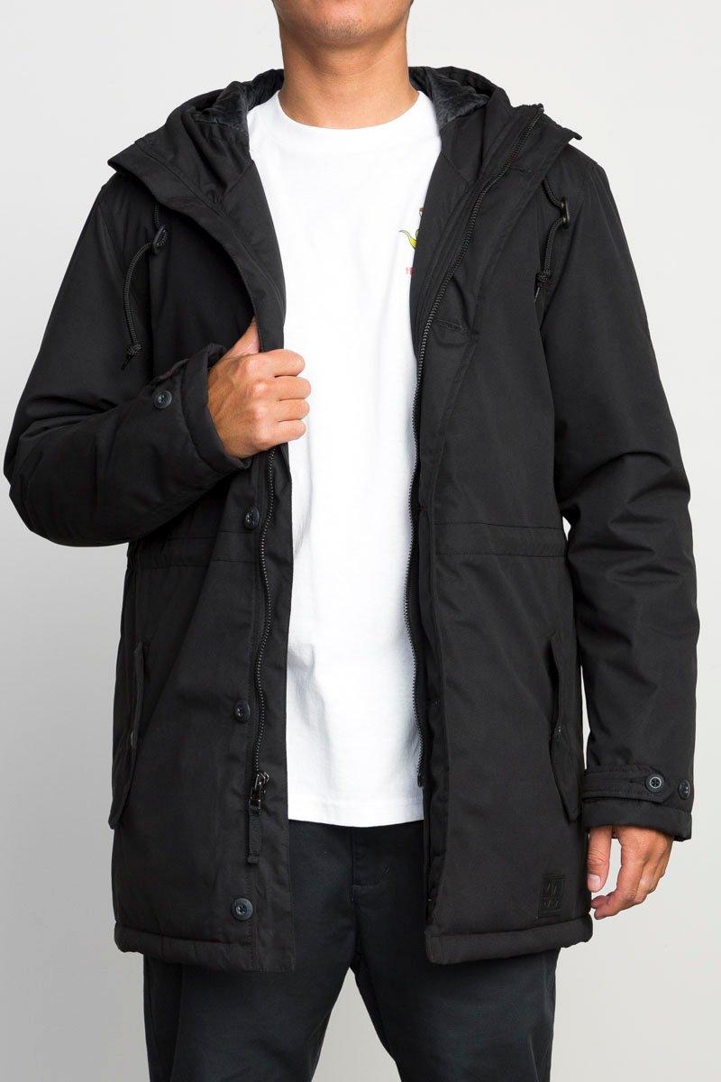 RVCA Men's No Boundaries Parka Jacket, Black, X-Large by RVCA (Image #2)
