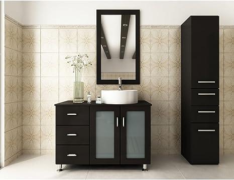 Amazon Com Jwh Living Lune 39 In Single Bathroom Vanity Home Kitchen