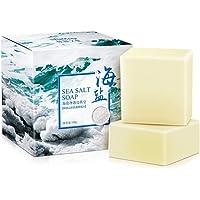 Savon au sel de mer au lait de chèvre pour le nettoyage du visage et du corps et réduire les bactéries antiacnéique