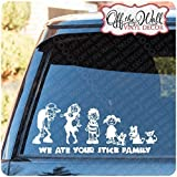 Zombie Family Stick Figure Vinyl Car / Truck / Vehicle Vinyl Decal Sticker