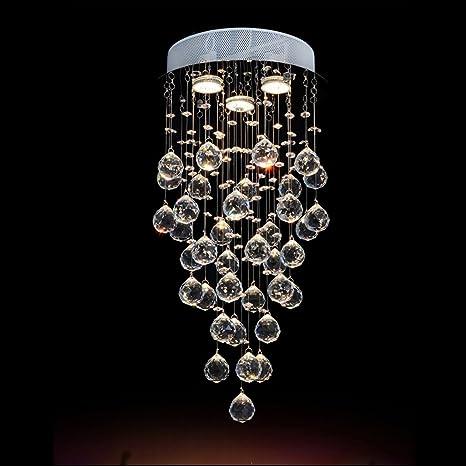 Lampadario Con Sfere Di Cristallo.Illuminazione Lampadari Moderni Moderni Drop Rain Lampadari