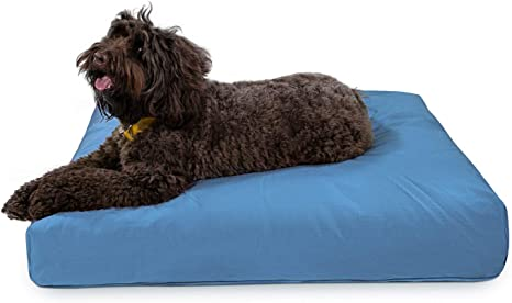 Amazon Com K9 Ballistics Tough Rectangle Nesting Large Dog Bed Washable Durable And Waterproof Dog Bed Made For Big Dogs 34 X40 Blue Pet Beds Kitchen Dining