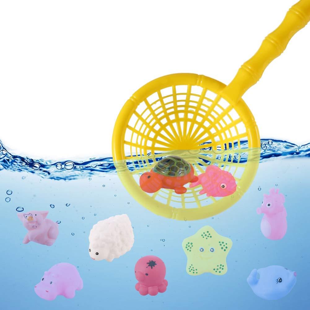 gigitube 21 St/ück Badespielzeug Badewannenspielzeug Baby Kinder Bad Spielzeug mit Fischernetz Wasserspielzeug f/ür Kinder
