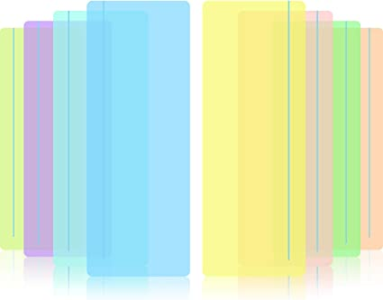 farbige Overlay 8 St/ück Lesestreifen mit farbiger Overlay hilft dabei Lese-Tracking-Lineal gef/ührte Lese-Highlightstreifen visuelle Stress zu reduzieren.