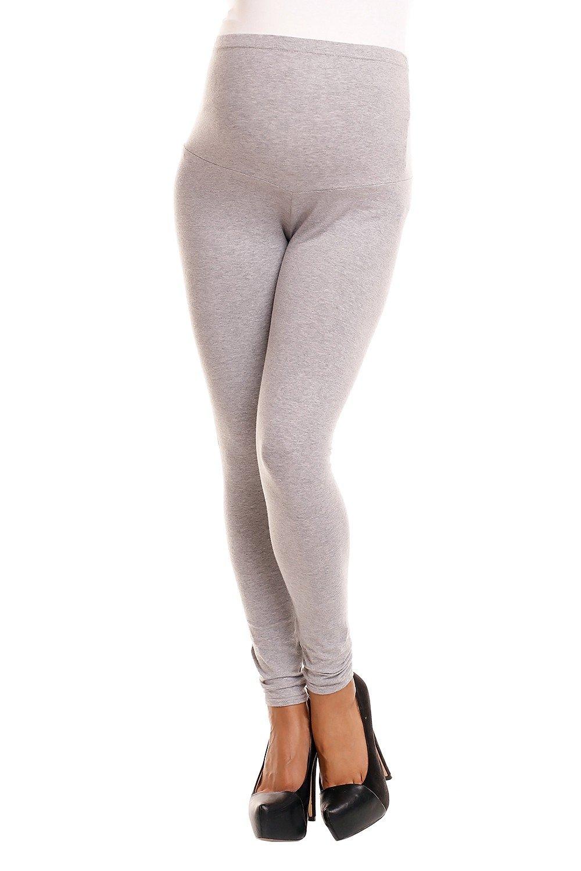 Zeta Ville -Pantalón Leggins Premama Leggings Banda elastica - para mujer - 775c maternity_leggings_775