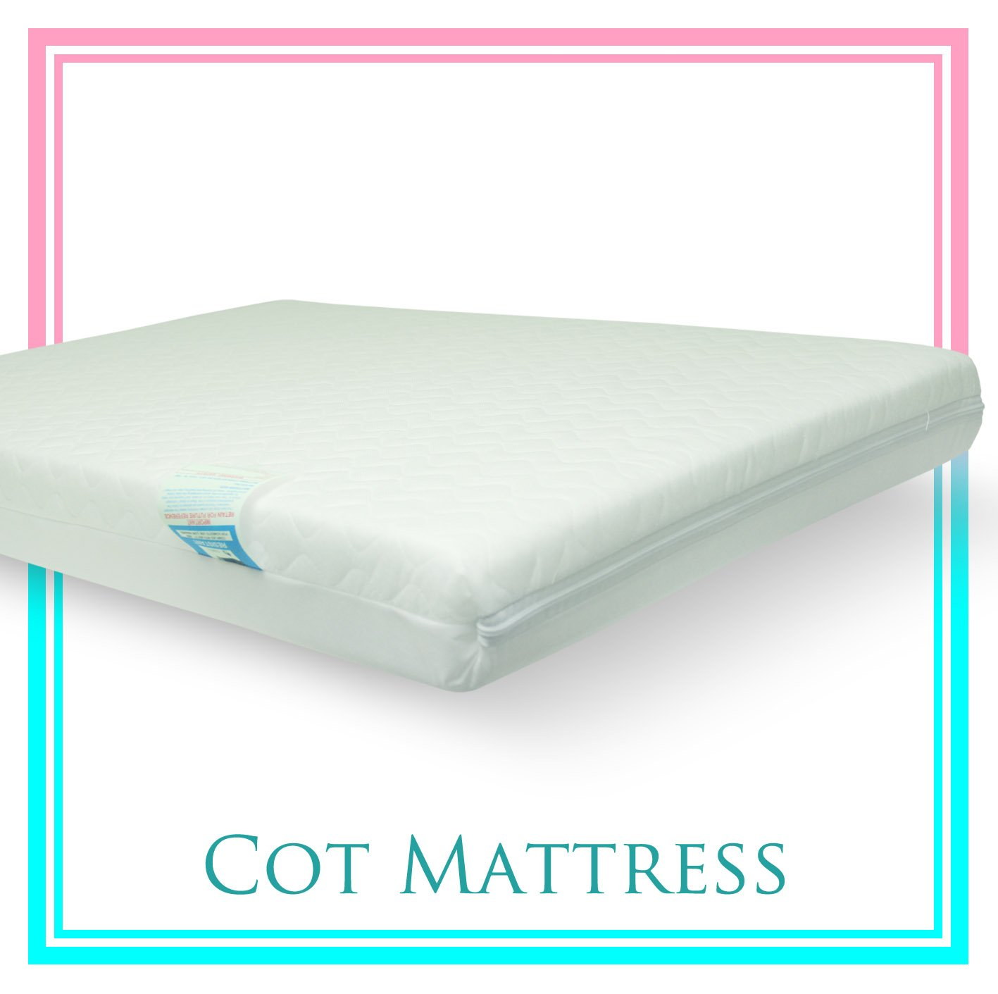 Baby Travel Cot Mattress 95 x 65 x 10 CM QUILTED Breathable Antiallergenic - UK Made - ATM-Baby Brand TOPSTYLE COLLECTION