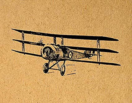 Amazon.com: Vintage Airplane Print Antique Plane Wall Art & Home ...