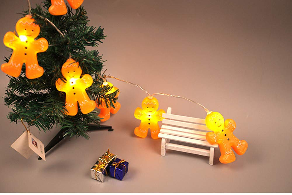 2.5M//20LED Halloween Lichterkette FeiliandaJJ 1.2//2.5M 10//20LED Deko Lichterkette,Weihnachten Dekoration Gingerbread Cartoon B/ösewicht Modellieren Lichterkette f/ür Bar Zimmer Party Hochzeit Garten B Balkon Weihnachten