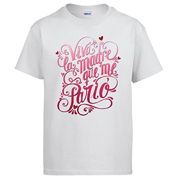 Camiseta viva la madre que me parió regalo divertido - Blanco 66692a9c4ec47