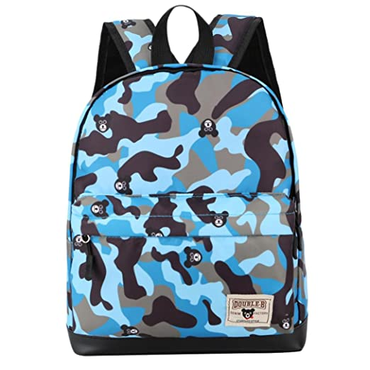 65b56ce50a5 Dinlong Toddler Kids Baby Boys Girls Camouflage Print Student Zipper School  Bag Travel Backpack (11.4