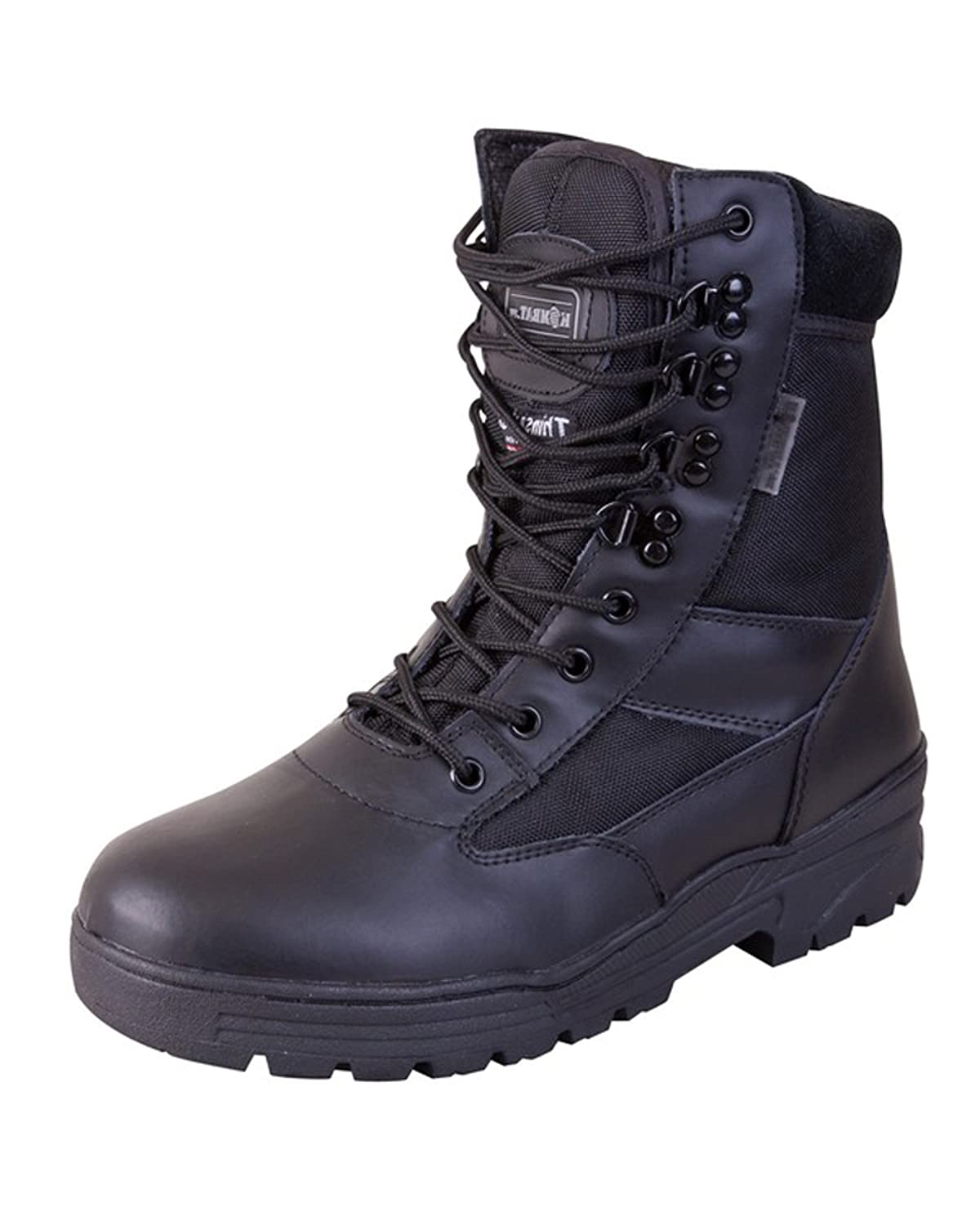Mens Combat Military Black Army Patrol Hiking Cadet Work High Leather Boot  All Sizes UK 3