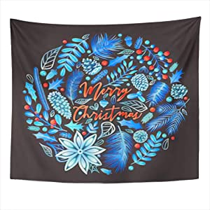 Cardinals Tapestry Phoenix Blue Majestic Fire Bird Wall Hanging Wall D¨¦cor Blanket for Bedrooms Living Room Dorm Home Decor Aesthetic - 60