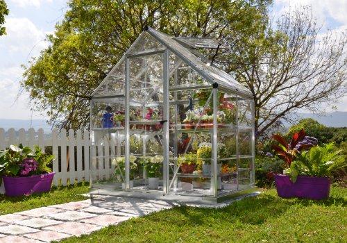 Palram Nature Series Harmony Hobby Greenhouse - 6 x 4 x 7 Silver by Palram (Image #1)