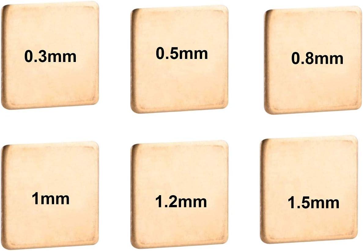 Easycargo 40 pezzi 6 misure 20 mm Copper Pad Shim Thermal Kit dissipatore di calore per CPU GPU VGA RAM SSD NVMe M.2