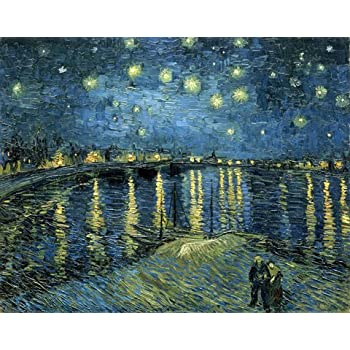starry night room designs amazoncom wieco art starry night by van gogh famous oil