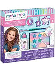 Make It Real - Deluxe Unicorn Makeover - Kids Makeup Set for Girls and Tweens - Includes Eyeshadow, Temporary Tattoos, Nail Polish, Lip Gloss, Makeup Brush