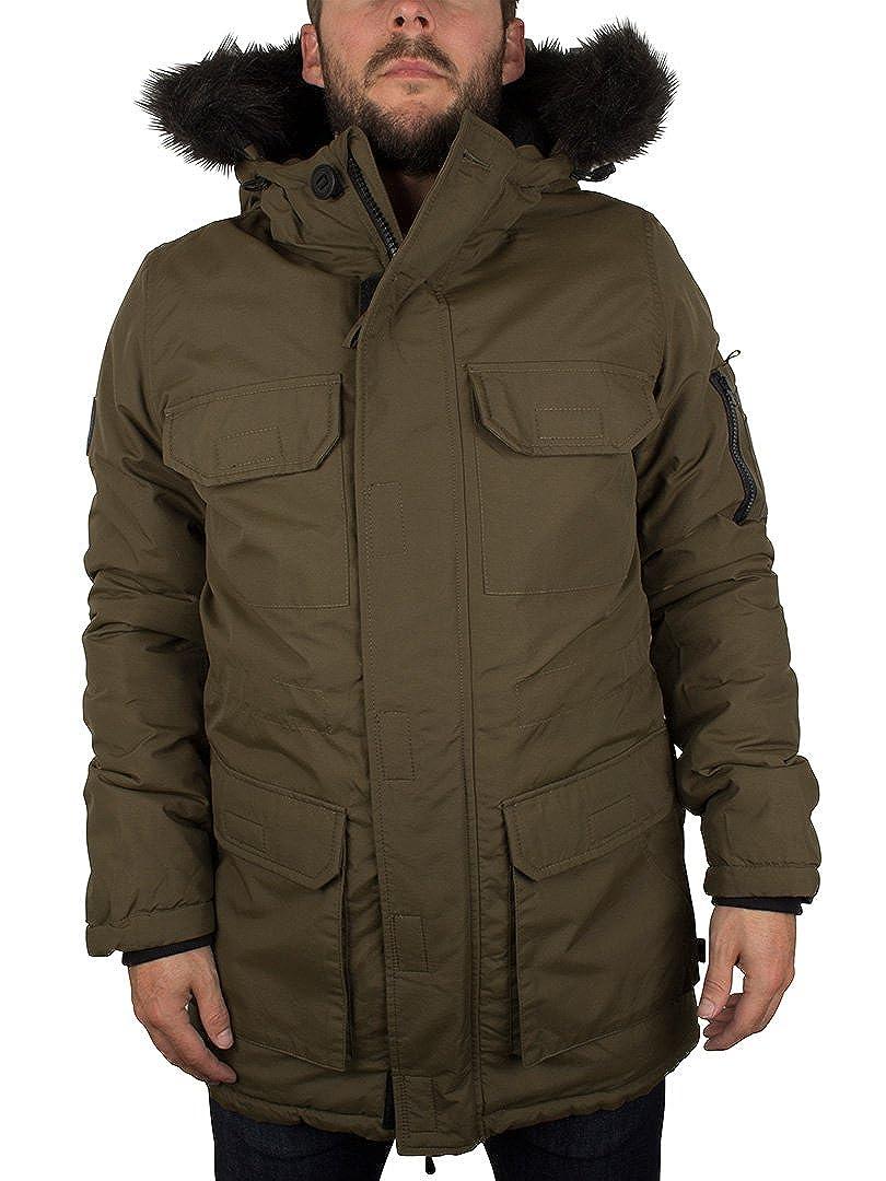 62929ed5fd Bellfield Men s Nimrod Fur Hood Jacket