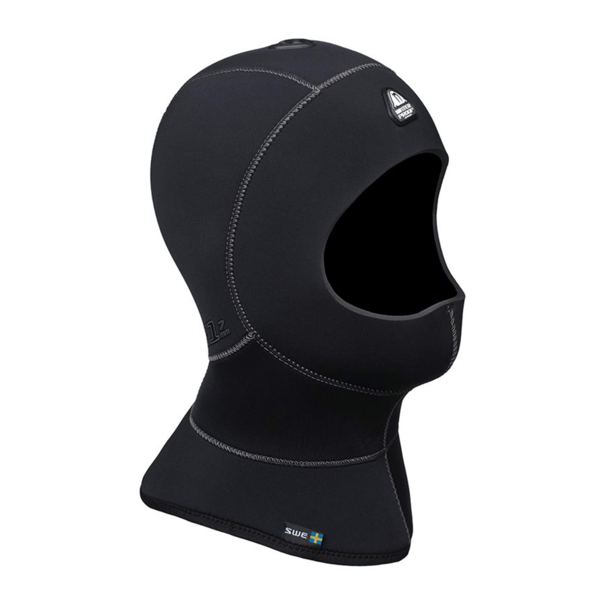 Waterproof H1 5/7mm Vented Anatomical Hood, X-Small by Waterproof