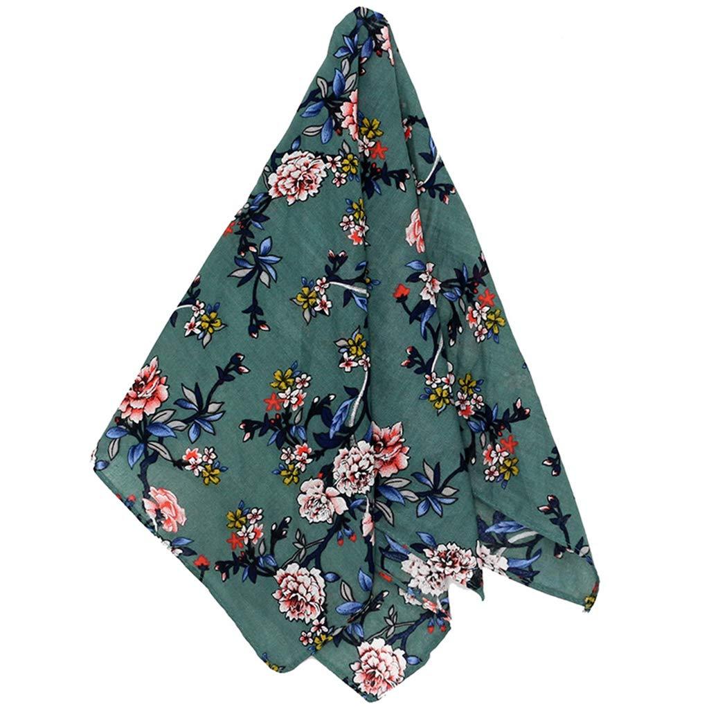 Foulard Carr/é en Coton Sport pour Femme Enveloppe De T/ête De Fille Litt/éraire Yanhonin Bandana Imprim/é Floral Vintage 55x55cm Bandana