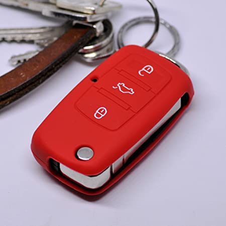 Auto Schlüssel Hülle Silikon Schutz Cover Für Vw Seat Elektronik