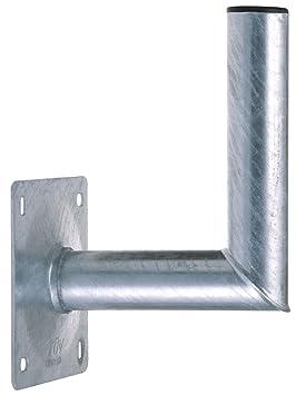 DUR-line WHSF 20cm – Stahl Wandhalter feuerverzinkt– TÜV geprüft – SAT Wandhalterung für Satellitenschüssel