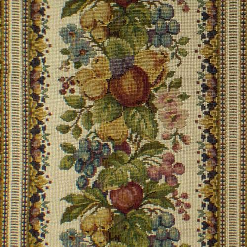 - Ivory/Multi Fruit Floral Tapestry Home Decorating Fabric, Fabric by The Yard