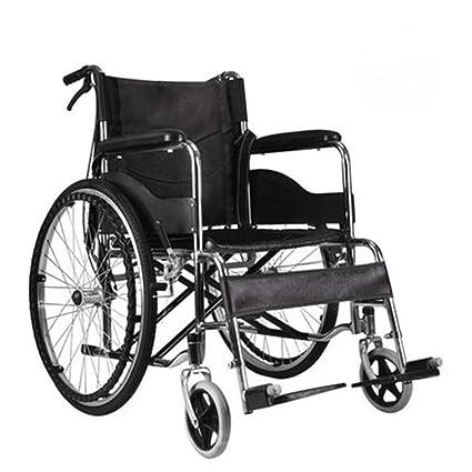 YJJSL Silla de Transporte Anti-decúbito para sillas de Ruedas de Aluminio autopropulsada, Ligera