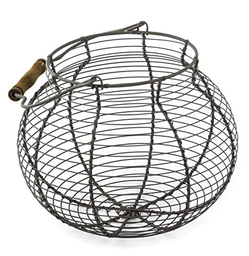 Shabby Chic Wire Flower / Fruit / Egg Basket with Handle (Shabby Chic Kitchen Ideas compare prices)