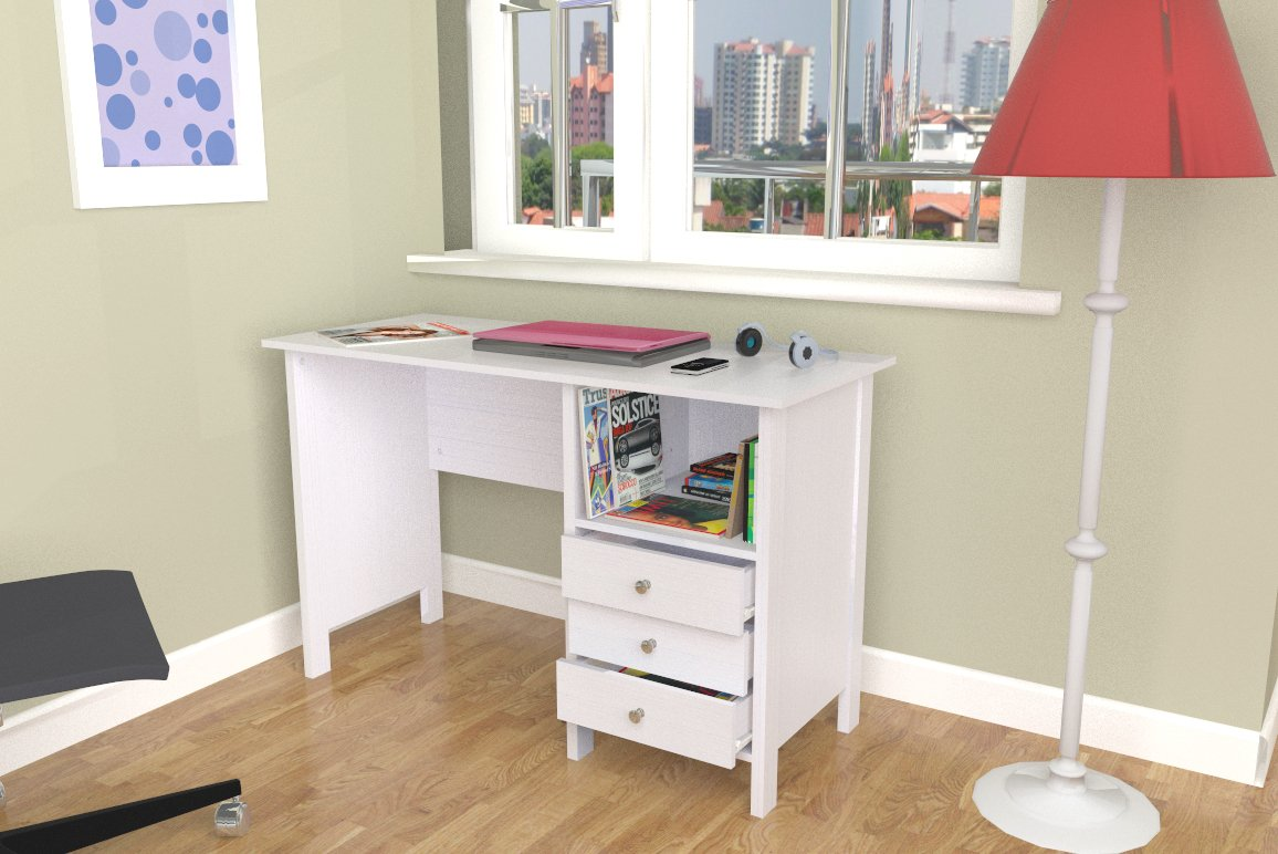 Inval ES 3303 Laura Collection Computer Desk by Inval America (Image #10)