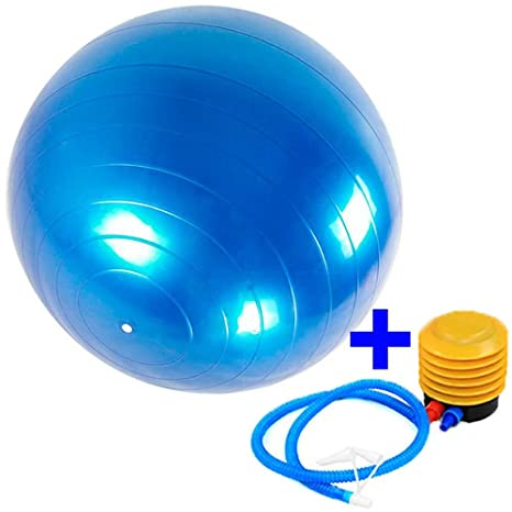 Ociodual Pelota Balon Gym Ball para Deporte Gimnasia Yoga Pilates Abdominales 65 cm for Fitness Core Exercise+Pump