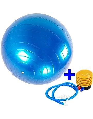 Balon pelota de pilates fitball fitness ejercicio gimnasia azul+inflador 65  cm 0954b69d3f4c