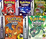 Get all 5 Pokemon GBA Games For 1 Low Price   Pokemon Emerald Version GBA   Pokemon Fire Red Version GBA   Pokemon Ruby Version GBA   Pokemon Sapphire Version GBA   Pokemon Leaf Green Version GBA