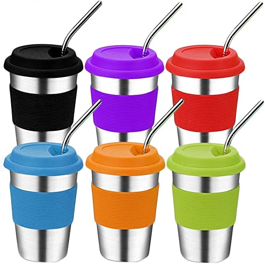 Kids Children Infant Baby Sip Cup with Built in Straw Mug Drink Solid Feeding VQ