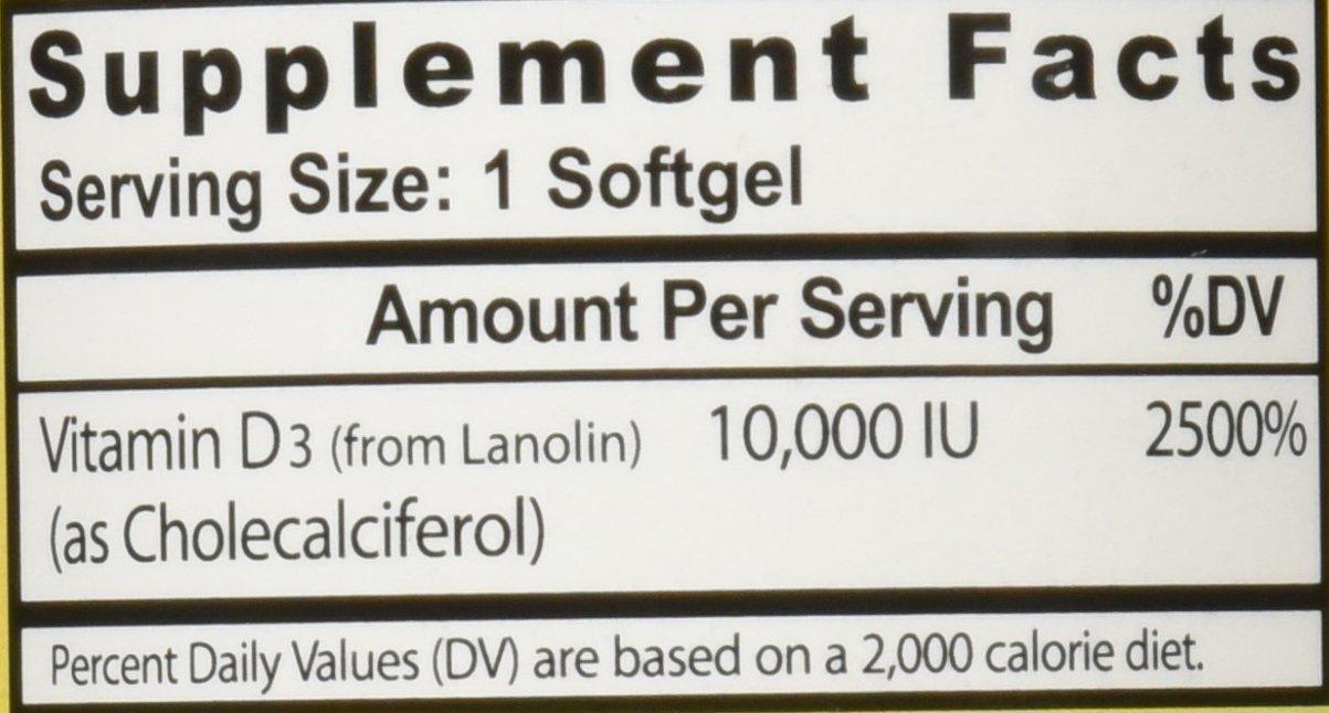 Healthy Origins Vitamin D3 10,000 IU (Non-GMO), 360 Softgels by Healthy Origins (Image #2)