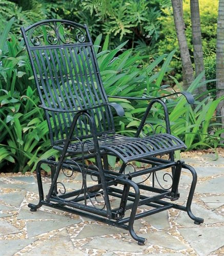 Iron Outdoor Single Patio Glider Chair