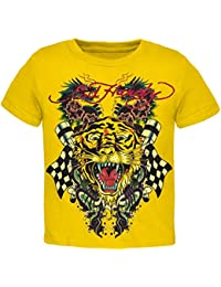 Tiger and Dragon Roar Yellow Youth T-Shirt