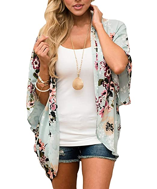 Reasonable Sexy Women Tunic Kimono Cardigan Chiffon Boho Beach Half Sleeve Tops Floral Blouse Ladies Casual Loose Summer New 2019 Blouses & Shirts