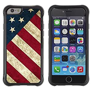 SHIMIN CAO@ Star Stripe Flag American Rustic Patriotic Rugged Hybrid Armor Slim Protection Case Cover Shell For iphone 6 6S CASE Cover ,iphone 6 4.7 case,iphone 6 cover ,Cases for iphone 6S 4.7