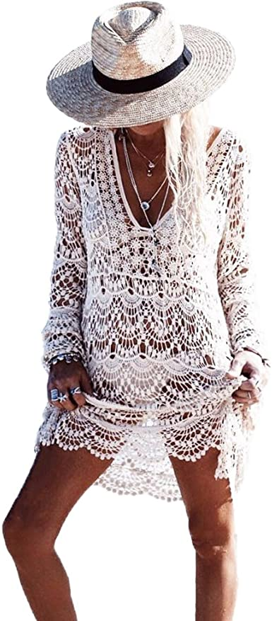 Femme Tassel Bikini Cover Up Beachwear Swimwear Summer Mini robe long Tops