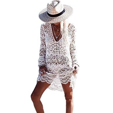 Robe de plage blanc