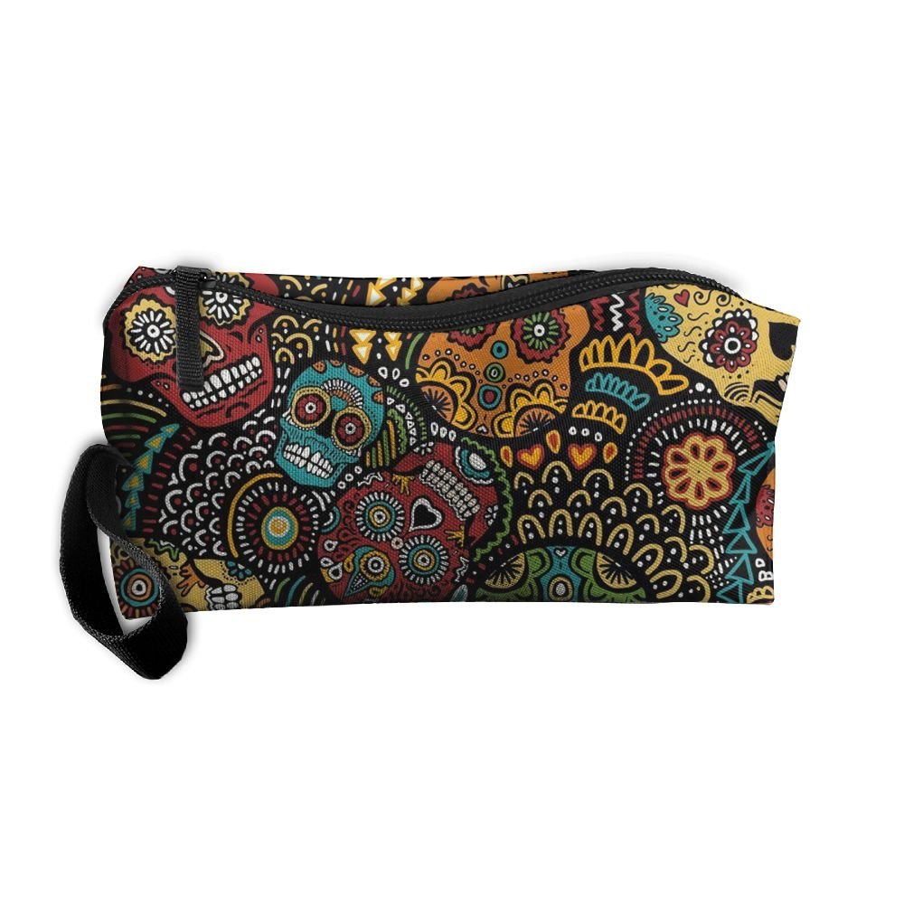 Travel Makeup Mexican Sugar Skulls Cosmetic Pouch Makeup Travel Bag Purse Holiday Gift For Women Or Girls Styleforyou