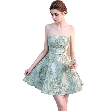 nymph Womens Open Back Sleeveless Lace Short Prom Cocktail Dress Mint Green 8
