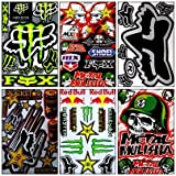 6 Rockstar Energy Drink Metal Mulisha Yamaha Kawasaki Motocross Racing Helmet Motorcycle Decal Sticker …