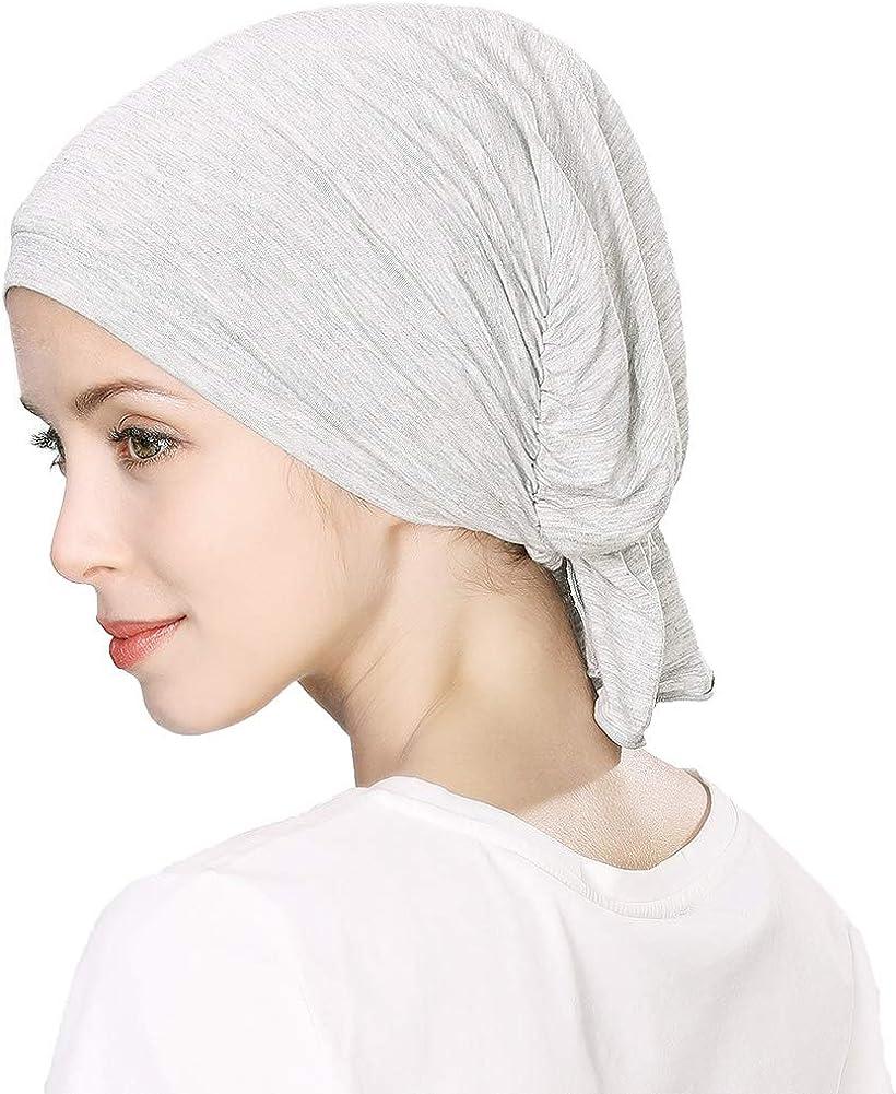Comhats Unisex Sleep Cap for Women Chemo Headwear Ruffles Beanie Hat for Hair Loss Cancer
