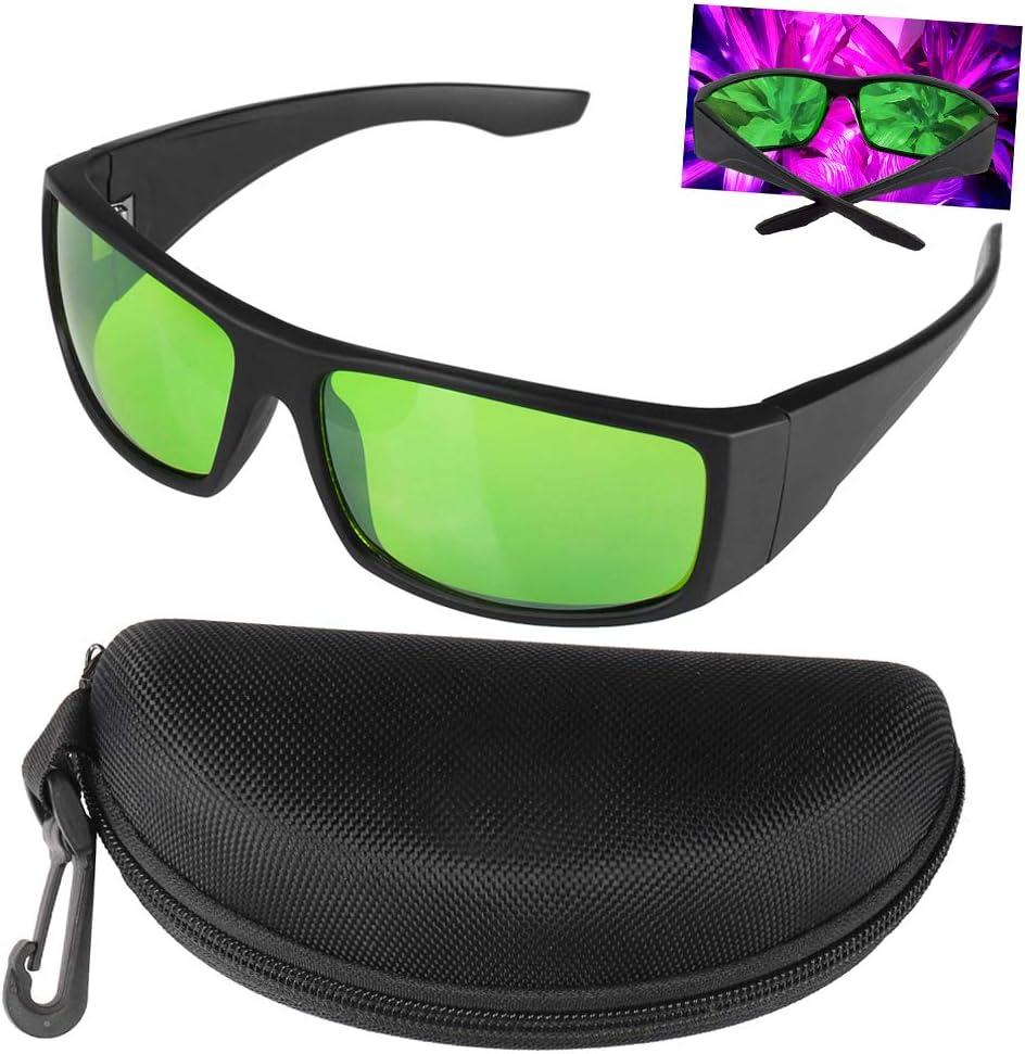 Gafas Protectoras de Crecer Luces Indoor Grow Glass Glasses Contra Rayos Rojo,Azul,UV, IR LED Gafas de Seguridad In Grow Room & Greenhouse